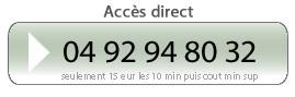 Accès direct 04 92 94 80 32